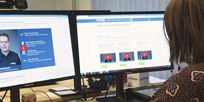 Online video kijken op kantoor
