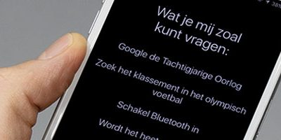 Voice Search op een mobiele telefoon
