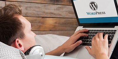 Wordpress-gebruiker op bank