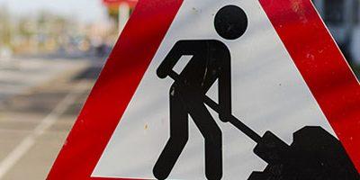 Wordpress under construction road sign