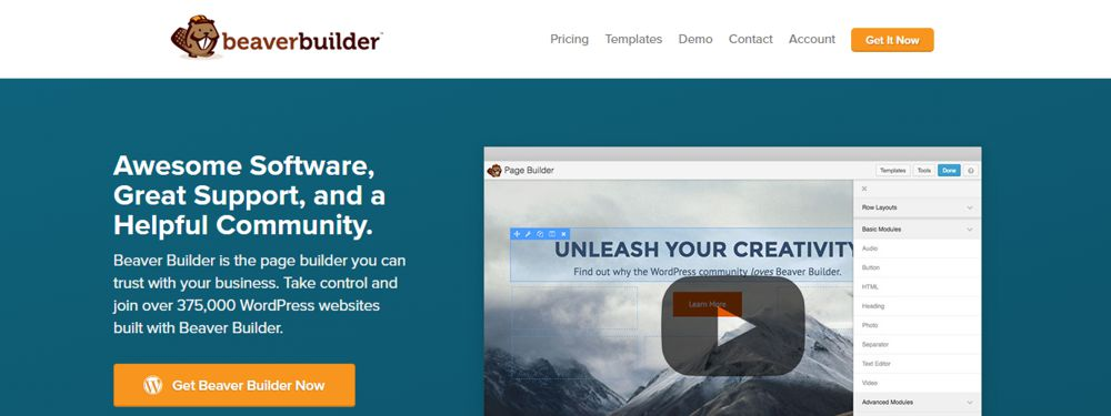 BeaverBuilder WordPress pagebuilder