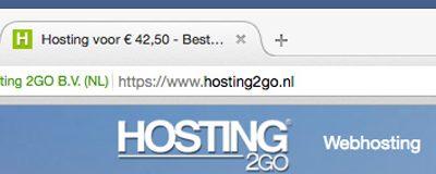 Webhosting met SSL certificaat