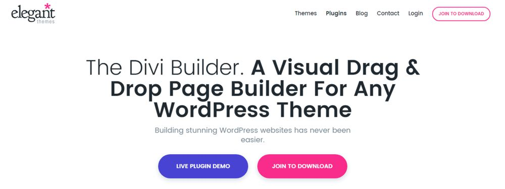 Dive WordPress pagebuilder