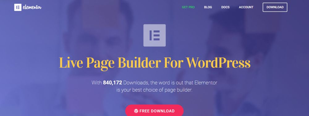 Elementor WordPress pagebuilder